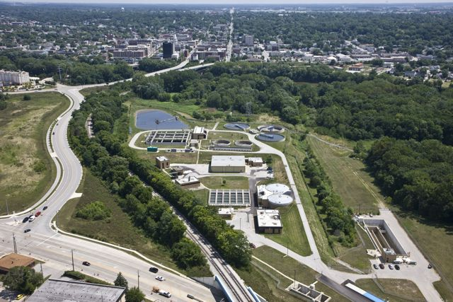 West Lafayette Indiana Aerial Photo Of Treatment Plant