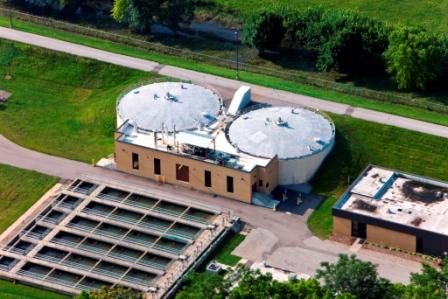 Aerial View of Renovated Digester