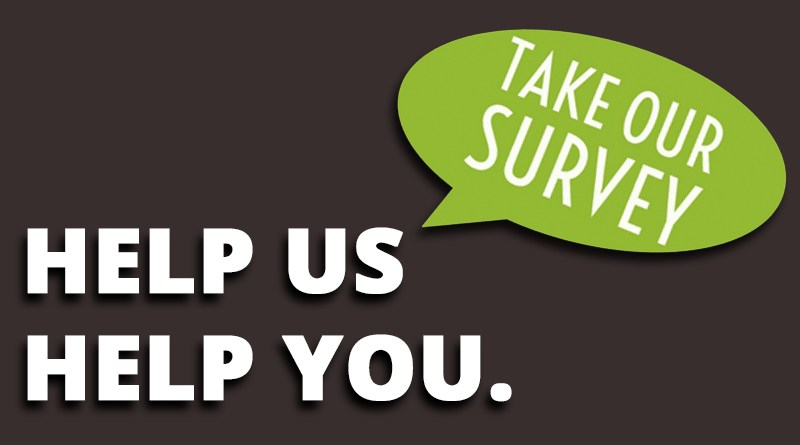 We need you help! Please take our website survey.